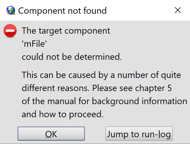 QF-Test ComponentNotFoundException