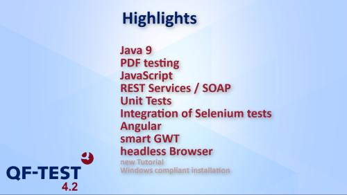 QF-Test 4 2 1 released - Java 10 support, mobile emulation mode