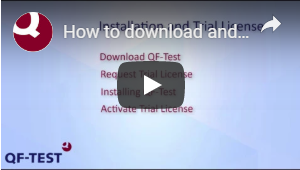 YouTube download and install QF-Test