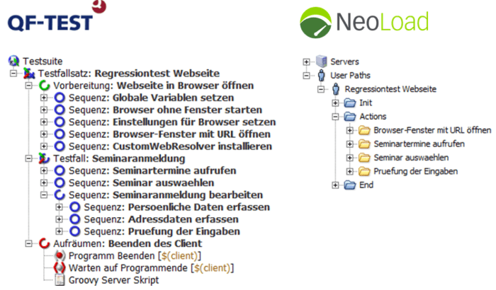 Import QF-Test nach NeoLoad