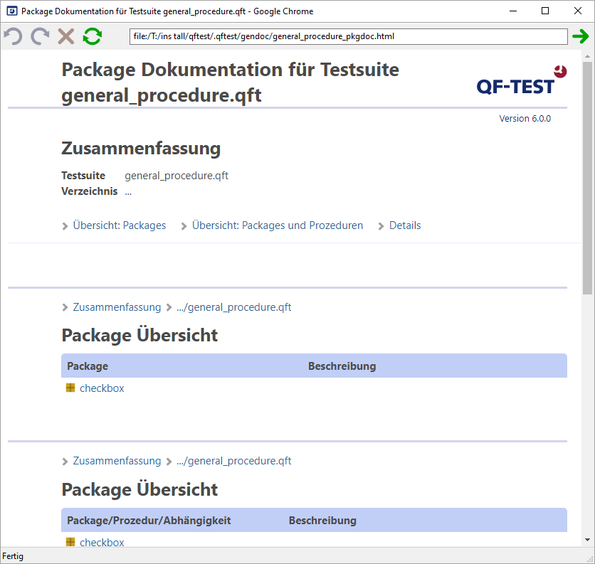 QF-Test Package Dokumentation